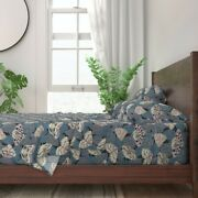 Nature Insects Moths Leaves Damask Bugs 100 Cotton Sateen Sheet Set By Roostery