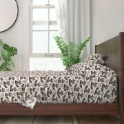 Raccoon Love Valentineand039 Raccoons 100 Cotton Sateen Sheet Set By Roostery
