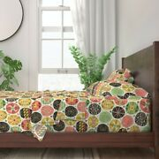 Pysanky Easter Eggs Pink And Green 100 Cotton Sateen Sheet Set By Roostery