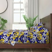 Floral Spring Bees Insects Bugs 100 Cotton Sateen Sheet Set By Roostery