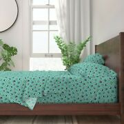 Beetle Insects Beetles Bugs Creepy 100 Cotton Sateen Sheet Set By Roostery