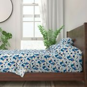 Blue Tequila Cactus Mexico Flower 100 Cotton Sateen Sheet Set By Roostery