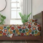 Pysanky Abstract Rainbow Polka Dots 100 Cotton Sateen Sheet Set By Roostery