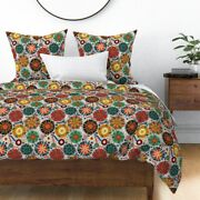 Pysanky Abstract Rainbow Polka Dots Colorful Sateen Duvet Cover By Roostery