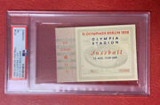 1936 Olympic Games Football Final Match Ticket Gold Medal Psa 7 Low Pop
