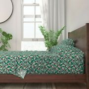 Lady Bugs Leaves Nature Summer Playful 100 Cotton Sateen Sheet Set By Roostery