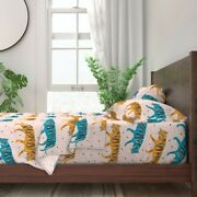 Tigers Large Scale Jumbo Safari Kids 100 Cotton Sateen Sheet Set By Roostery