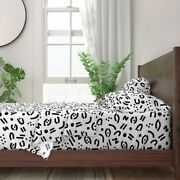 Abstract Minimalism Tribal Lines Finger 100 Cotton Sateen Sheet Set By Roostery