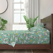 Animal Biology Bugs Etymology Floral 100 Cotton Sateen Sheet Set By Roostery