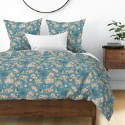 Map Maps Illustrated Maps Adventure Nautical Sateen Duvet Cover By Roostery