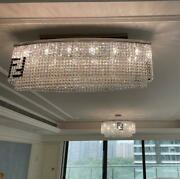 New Luxury Dining Room Chandelier Curved Led Crystal Long Light Gold/chrome Lamp
