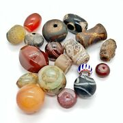 Authentic Antique Southeast Asian Agate Stone Beads Dzi And Related Artifacts - A