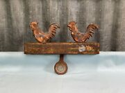 Antique Hoffmann Cast Iron Carnival Shooting Gallery Rooster Target 2 G5