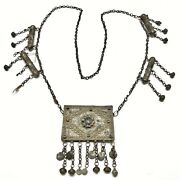 Ca. 1600-1800andrsquos Middle Eastern Tribal Necklace - Huge Oversized Jewelry Artifact