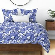Blue Willow Blue China Chinoiserie Dishes Plates Sateen Duvet Cover By Roostery