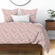 Manatee Manatees Manatee Dugong Pink Animals Sateen Duvet Cover By Roostery