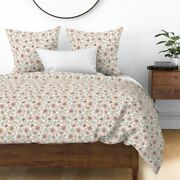 Watercolors Farmhouse Floral Garden Pastels Sateen Duvet Cover By Roostery