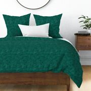 Pysanky Abstract Art Hand Drawn Green Freehand Sateen Duvet Cover By Roostery