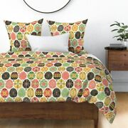 Pysanky Easter Eggs Pink And Green Ukraine Sateen Duvet Cover By Roostery