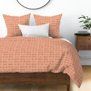 Orange Coral Equestrian Horse Bit Bits Sateen Duvet Cover By Roostery