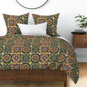 Talavera Mexican Hand Towels Tea Towels Kitchen Sateen Duvet Cover By Roostery