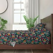 Thermos Retro Kitchen Coffee Camping 100 Cotton Sateen Sheet Set By Roostery