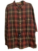 Flannel Shirt Men's Xxl Cremieux Rust Tan Looks And Feels Great Nwt