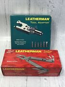 Leatherman Sideclip 1998 With Tool Adapter 1998 Vintage Retired New In Box