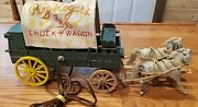 Very Rare Roy Rogers Chuck Wagon Lamp Or Night Light W/ Horses, Works Great