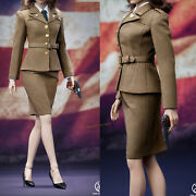Poptoys 1/6 Peggy Carter Wwii Us Army Female Agent Uniform Fit 12 Action Figure