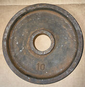 Vintage International Canada Deep Dish Olympic Weights 10lb Weight Plates Rare