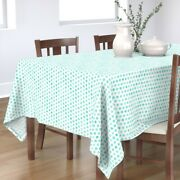 Tablecloth Watercolor Turquoise Polka Dots Designed Dot Modern Cotton Sateen