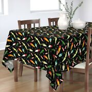 Tablecloth Fishing Outdoors Lake River Fish Lures Vintage Bobbers Cotton Sateen