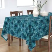 Tablecloth Tribal Bohemian Abstract Turquoise Boho Cotton Sateen