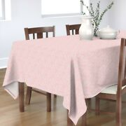 Tablecloth Indian Damask Dauphine Pink White Ikat Lace Cotton Sateen