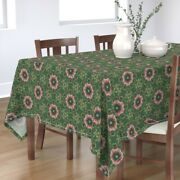 Tablecloth Scandinavian Rosemaling Jewels Ornate Tapestry Holiday Cotton Sateen