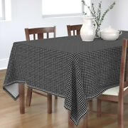 Tablecloth Raster Lines Grid Black And White Scandinavian Trend Cotton Sateen