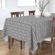 Tablecloth Black And White Mud Cloth Aztec Dots Lines Scandinavian Cotton Sateen