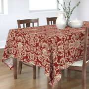 Tablecloth Palm Tree Indian Pattern Pineapple Pine Cone Christmas Cotton Sateen