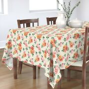 Tablecloth Vintage Retro Rose Floral Roses Shabby Chic Cotton Sateen