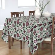 Tablecloth Holiday Ornaments Christmas Tree Winter Decorations Cotton Sateen