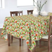 Tablecloth Persimmons Persimmon Tree Fruit Food Sweet Leaves Cotton Sateen