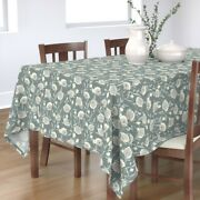 Tablecloth Victorian Floral Fairy Roses Vintage Rose Grey Slate Cotton Sateen