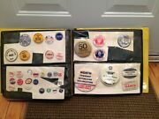 Vintage 1950's Adco Salesman Samples Buttons And Badges Pin Backs Display Book Wow