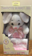 Precious Moments Charactor Blanket And Bunny Lovie New In Box Rare 2000 Loves