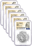 2021 Morgan And Peace Dollar 100th Anniv 6 Coin Set Ngc Ms70 Advanced Release