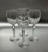 Waterford Crystal Red Wine Glasses Water Goblets Wynnewood Pattern Set Of 4