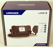 Lowrance Link-9 Dsc Vhf Marine Radio Ais Receiver And Integrated Gps Receiver New