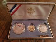 1991 United States Mount Rushmore Anniversary Coins 3 Coin Proof Set