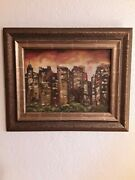 Antique Vintage Abstract Painting/ Vivian Cameron